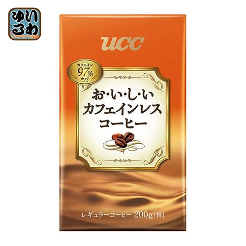 UCC おいしいカフェインレスコーヒー VP 200g袋 24袋入〔コーヒー レギュラーコーヒー カフェインレス〕