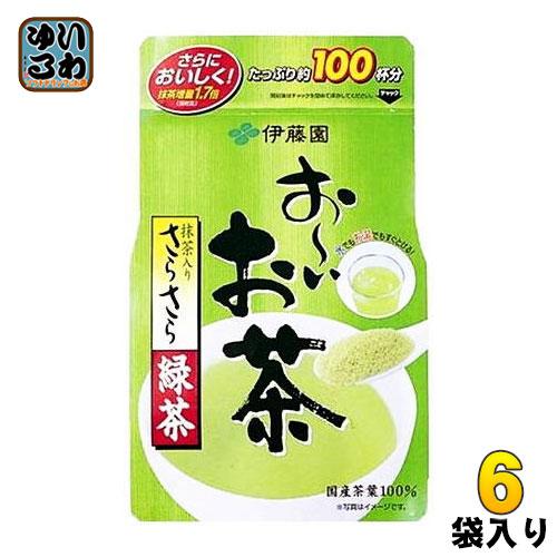 伊藤園 お~いお茶 抹茶入りさらさら緑茶 80g×6袋入〔おーいお茶 インスタント 粉末緑茶 粉 粉末茶 粉茶 インスタント緑茶〕