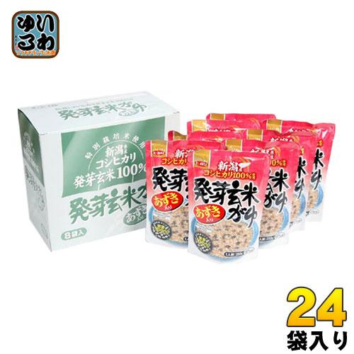 ヒカリ食品 あずき入り 発芽玄米がゆ 250g 24袋入〔レトルト粥 粥 お粥 コシヒカリ 非常食 保存食〕