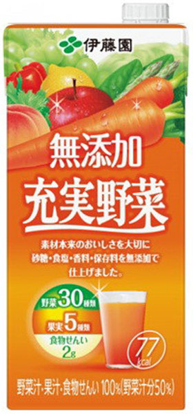 Do not make 6 100% of Ito En, Ltd. no addition enhancement vegetables 1L pack Motoiri [vegetables juice じゅうじつやさい food; is;]
