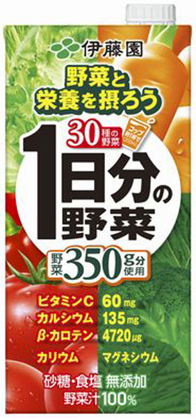 1,000 ml of vegetables juice large-capacity いちにちぶんのやさい] for 6 vegetables 1L pack Motoiri [days for Ito En, Ltd. 1st