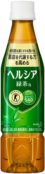 Flower Kings healthya green tea 350 ml pet slim bottle 24 pieces [hell Siah tokuho specific health food special moisturizing is green tea.