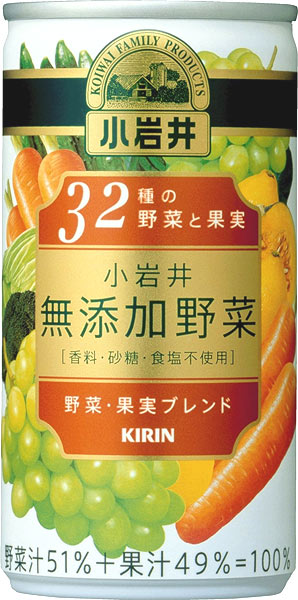 Giraffe Koiwai-free vegetable 32 species of vegetables and fruits 190 g can 30 pieces [juice]