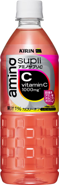 麒麟 アミノサプリ C 555 毫升宠物 24 件 [Supli 氨基复合胶囊的急性心肌梗死的 PRI 氨基酸鸟氨酸与柠檬和针叶饮料]