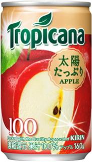 Kirin Tropicana 100% Apple 160 g cans 30 pieces []