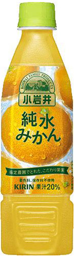 Giraffe Koiwai pure Mandarin 470 ml pet 24 pieces [orange juice juice 20%]