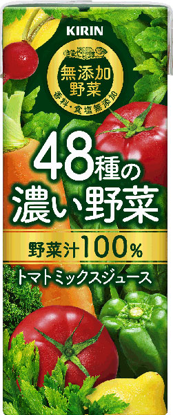 24 100% of thick vegetables of 48 kinds of giraffe no addition vegetables 200 ml pack Motoiri [KIRIN vegetables juice tomato mixed juice]
