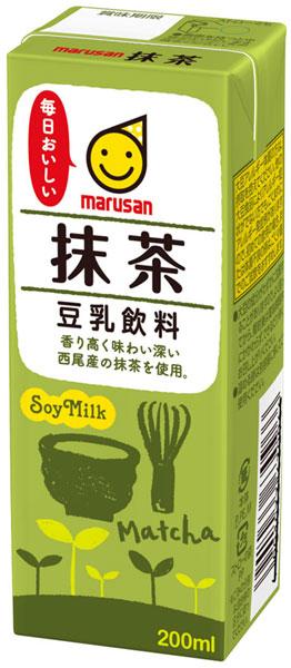 24 200 ml of Marusan soy milk powdered green tea pack Motoiri []