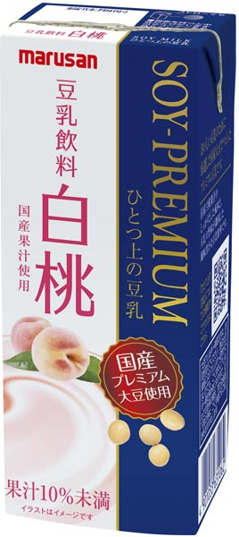Marusan one on soy peach 200 ml paper pack 24 pieces []