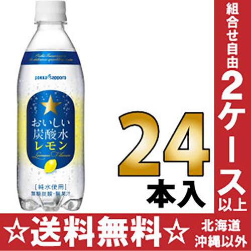 Tasty Sapporo Seltzer lemon 500 ml pet 24 pieces [pure water use allocation soda water.