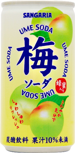 Sangaria plum soda 190 g can 30 pieces [SANGARIA.