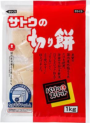 佐藤食品佐藤的切割年糕pari和狹縫1kg袋10袋入[年糕年糕切割年糕國產美國杵tsukinaga年糕膠卷大容量]