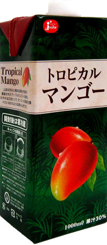 6 1,000 ml of juicy tropical mangos pack Motoiri [まんごー mango juice]