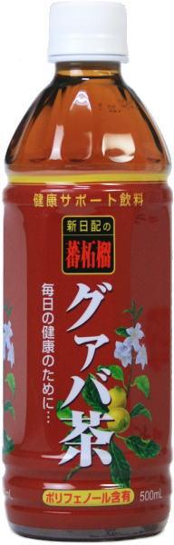 500 ml of 24 新日配薬品 guava tea pet Motoiri [guava 茶蕃柘榴]