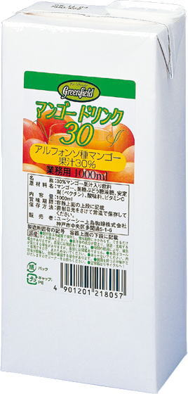 6 1,000 ml of 30% of Greenfield mango drink 1L pack Motoiri [まんごー GF ぐりーんふぃーるど]