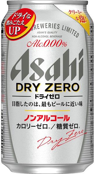 朝日 ドライゼロ 350 毫升罐 24 件 [非酒精啤酒 0.00%干零卡路里。
