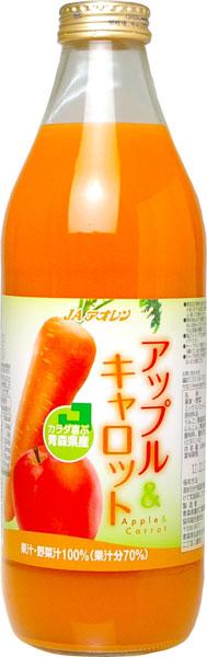 6 1,000 ml of JA アオレンアップル & carrot 1L pot Motoiri [apple juice vegetables juice]