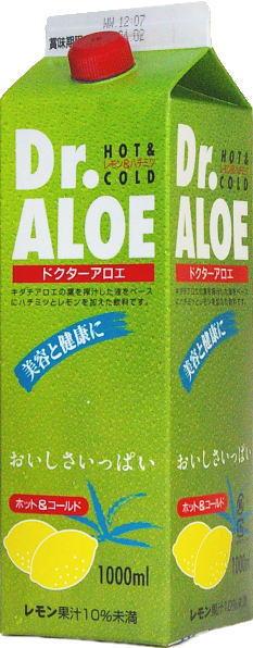 12 1,000 ml of G S food Dr.ALOE( doctor aloe) 1L pack Motoiri [lemon & honey Dr. aloe]