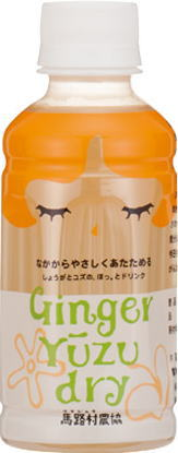 Ginger] with 200 ml of 24 Umaji-mura farm co-op ginger ゆーず dry pet Motoiri [Ginger Yuzu dry ginger citrons dry ginger