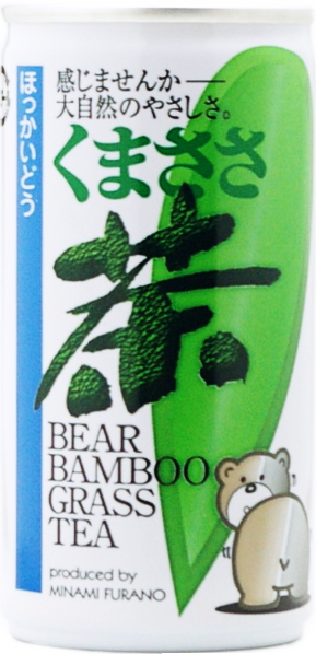 South Furano City Promotion Corporation bear bamboo tea 190 g can 30 pieces [live forever tea kumazasa tea health tea.