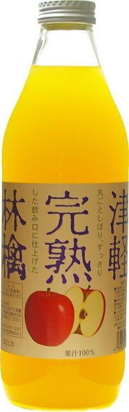 英镑食物津熟透的苹果汁的白色标签 1 升瓶的 6 件 [苹果苹果汁。