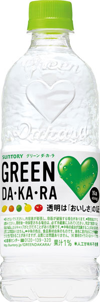 Suntory GREEN DA-KA-RA (グリーンダカラ) 500 ml pet 24 pieces [from green]