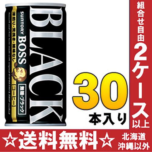 三得利老闆老闆 unsweetened 黑色 185 g 罐 30 塊 [黑色無糖的黑咖啡咖啡咖啡]