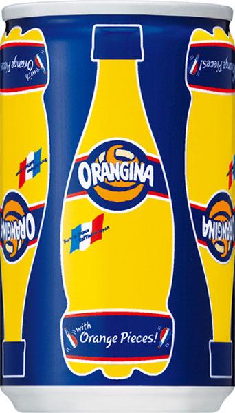 Orangina 160 ml cans 30 pieces [micro carbonated orange juice]