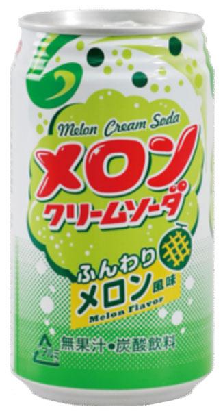 Tominaga trade Tominaga foods melon cream soda 350 ml cans 24 pieces [melon soda carbonated soft drinks.