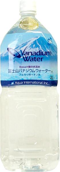 6 *2 oasis aqua Mount Fuji vanadium water 2L pet Motoiri bulk buying [vanadium water alkaline ionized water]