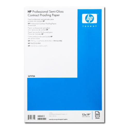 【送料無料】 Q7970A HP プロフェッショナルコンタクトプルーフ用半光沢用紙 (Professional Semi-Gloss Contract Proofing Paper) A3+/330 x 483 mm (13 x 19 in) 50枚