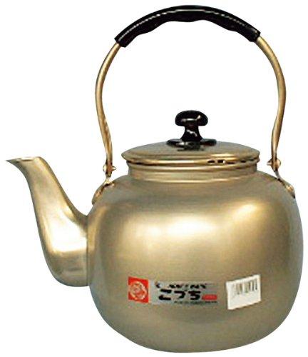 昔なつかし 福徳瓶 アルマイト やかん 10L 前川金属大型 湯沸し アルミ 蓚酸アルマイト レトロ 昔ながら 金色 ゴールド ケトル ケットル 10.0リットル 業務用 家庭用