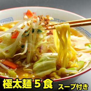 もちもち感がたまらない♪ プロが選んだ 極太麺 ラーメン 5食入り ※簡易包装 スープが選べます。