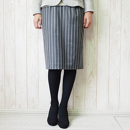 fairnark(フェアナーク)レジメンタルストライプタイトスカート