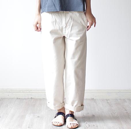 KELEN(ケレン)ホワイトデニムパンツ 'Mar' white denim pants 'Mar' ホワイト/ナチュラル