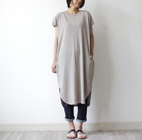 made(マオメイド)32/2コットンハイゲージニット半袖ワンピース mao