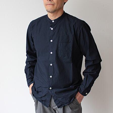 ユニセックスブランド MANUAL ALPHABET 半額 マニュアルアルファベット バンドカラーシャツ スタンドカラーシャツ ルーズフィット ランキングTOP10