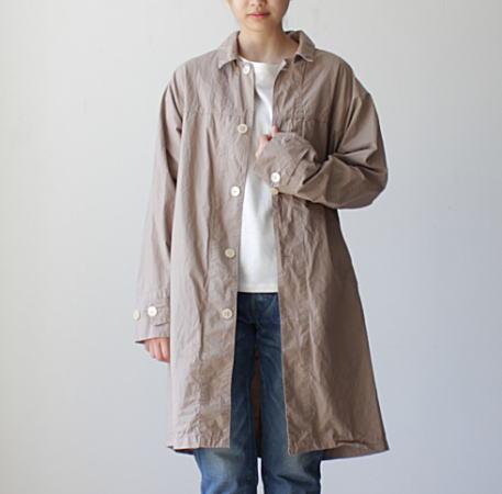 コート レディース メンズ ユニセックス  MANUAL ALPHABET(マニュアルアルファベット)ヨークスリーブシャツコート