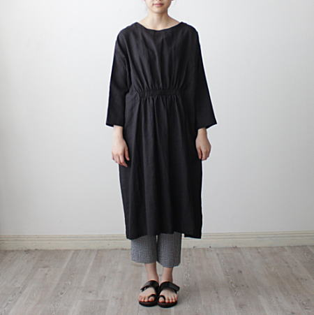 20%OFF 70%OFFアウトレット A View From Here 流行 アビュー ギャザーワンピース フロム SUPPLE ヒア LINEN