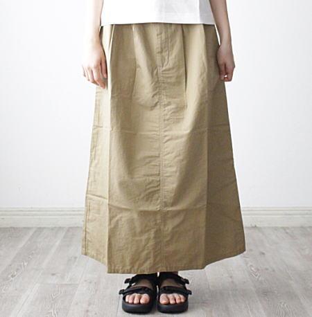 tumugu ツムグ 永遠の定番 コットンリネンバウンスウェザースカート 10%OFF