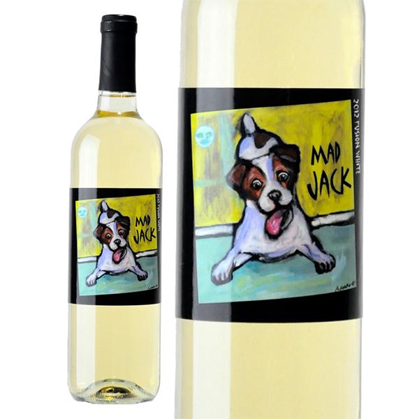 犬ラベル ジャックラッセルテリア ラベル カリフォルニア 白ワイン  マッドジャック フュージョン ホワイト カリフォルニア [2018] 750ml ソノマ 犬ラベル 可愛い ラベル 白ワイン 辛口 アメリカ ジャックラッセルテリア