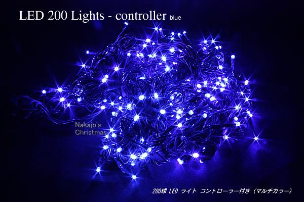 200球LEDライト 200球LEDライト コントローラー付 led ブルー クリスマスツリー 電飾 電飾 led イルミネーション ツリー, おもちゃのつじせ:44bbbfdc --- sunward.msk.ru