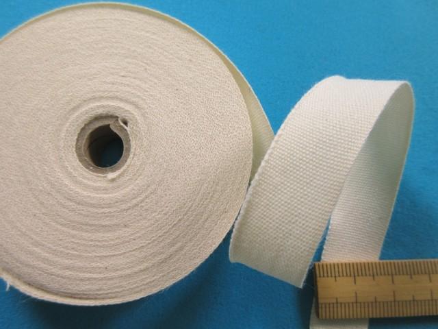 綿平テープ生成り(1.5cm幅 10m巻)
