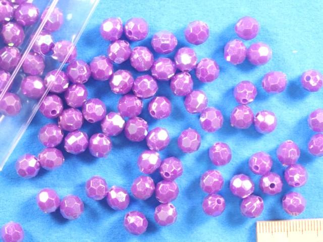 登場大人気アイテム プラカットビーズ 公式ショップ 約8mm オーロラ紫