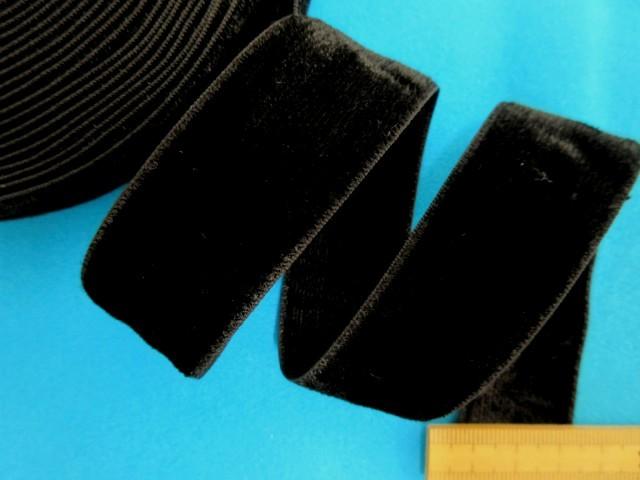 両面ベルベットリボン(2.5cm幅 10m巻)黒