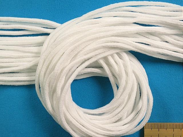 在庫処分 大幅値下げソフトマスクゴム 高級 10m巻 AL完売しました 白