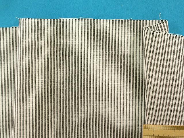 お気に入 綿ストライプ生地黒系×オフ白 110cm幅 2m 送料無料新品