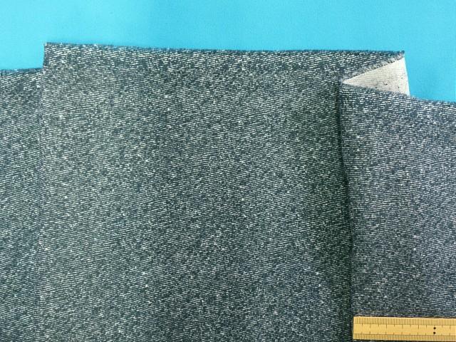 綿ダブルガーゼ生地紺系×オフ白 145cm幅 絶品 国内送料無料 1m