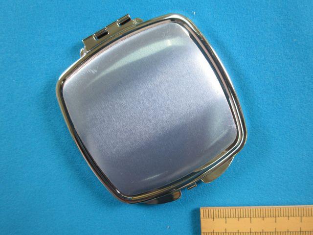 コンパクトミラー(アルミプレート付)角 銀