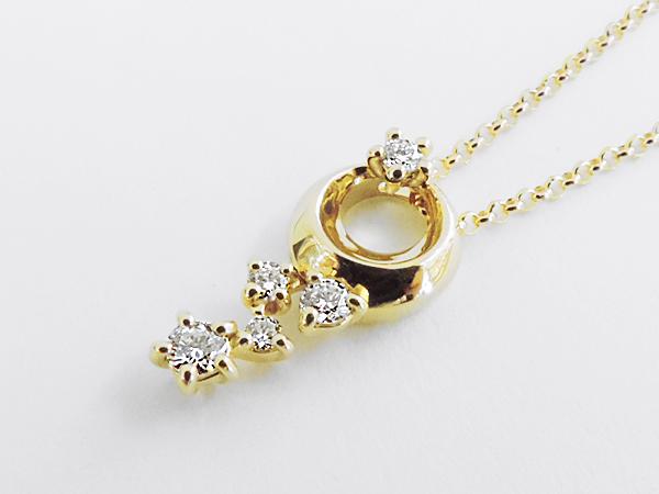 【送料無料】【あす楽対応】HOSHInoSUNA (星の砂) K18 (18金) ダイヤモンドネックレス